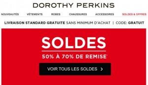 Soldes flottants Dorothy Perkins 2015