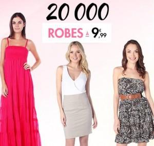 centaines de robes a moins de 10 euros sur Tati