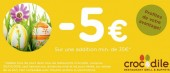 coupon 5 euros de remises restaurant Crocodile
