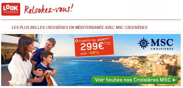 croisières pas chères MSC sur Look Voyage