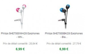 ecouteurs Philips SHE7000