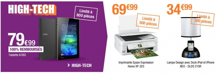 high-tech 100% remboursé Auchan