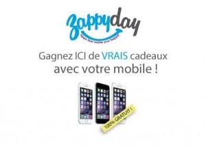 obtenez des cadeaux avec votre smartphone Zappyday