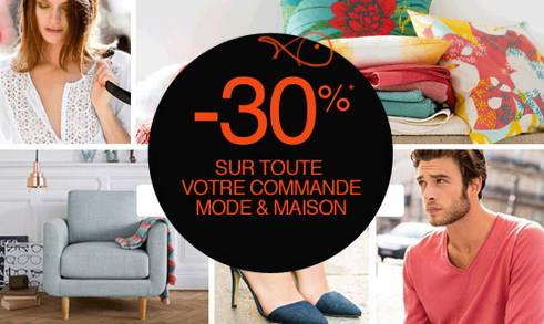30 de remise sur la redoute jusqu ce soir cumulable. Black Bedroom Furniture Sets. Home Design Ideas