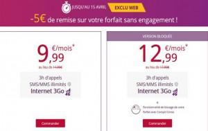 remise de 5 euros mois sur Virgin Mobile