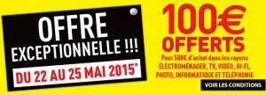 100 euros offerts Conforama