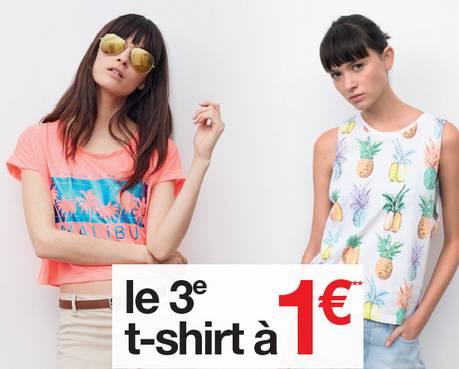 3eme T-shirt à 1 euro sur Jennyfer