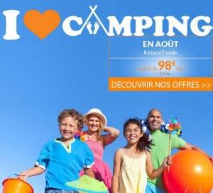98 euros la semaine de vacances en Aout