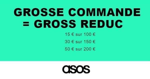 Asos 15€ De Réduction Dès 100€ D'achat, 30€ Dès 150€ D'achat, 50€ Dès 200€ D'achat