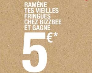 Bon d'achat Bizzbee de 5 euros (valable sans minimum)