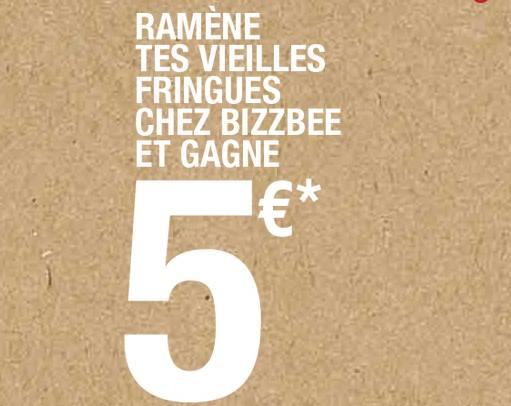bon plan bon d 39 achat de 5 euros en ramenant un ou des vieux v tements bons plans bonnes affaires. Black Bedroom Furniture Sets. Home Design Ideas