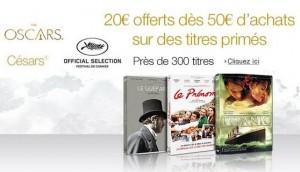 Cannes, Oscars, Cesar 20 euros de remise pour 50 euros d'achat