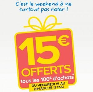 Castorama 15 euros offerts par tranche de 100 euros