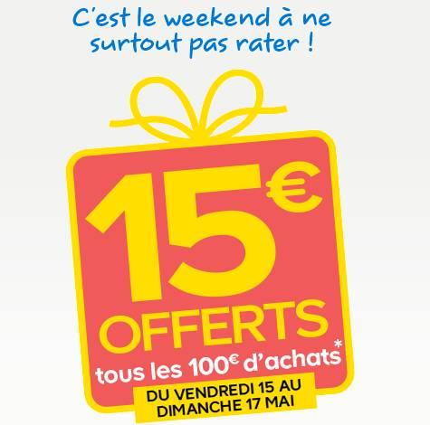 bon plan castorama 15 euros tous vos 100 euros d 39 achats