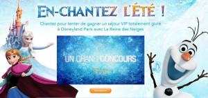 Concours Disneyland Reine des Neiges Fête Givrée