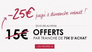 La City 25 euros offerts