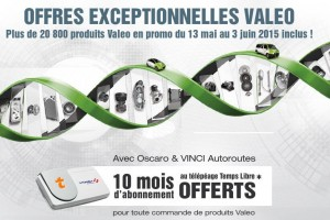 Offre spéciale Valeo – Vinci Autoroute sur Oscaro