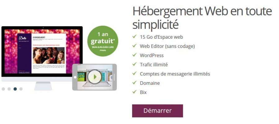 Site internet gratuit ONE