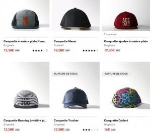 casquettes Adidas à moitié prix