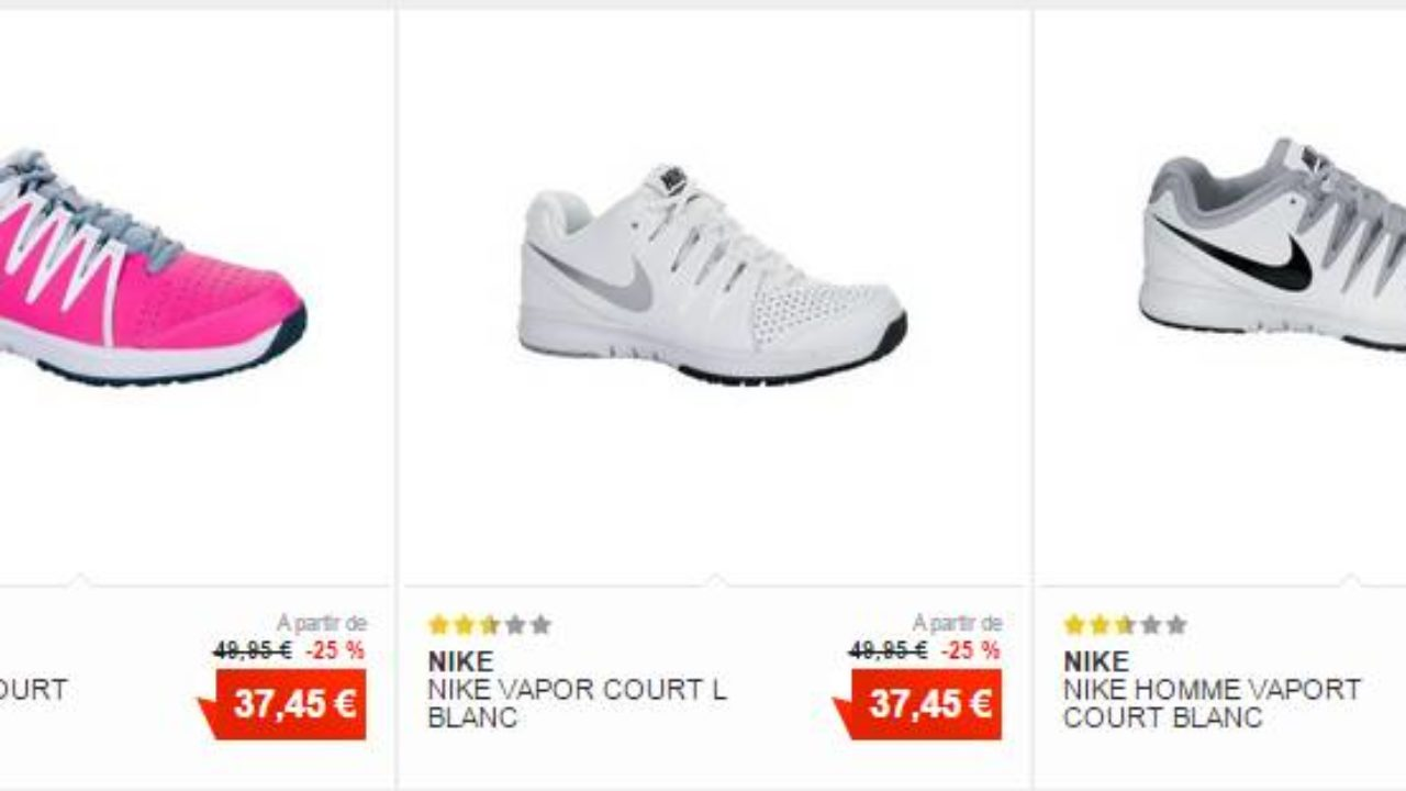 Les 45 Performance 37 Court Chaussures Tennis Nike De Euros Vapor QCshtrd