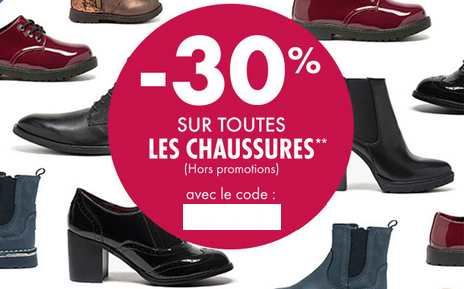 code promo GEMO chaussures