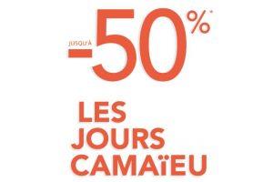 jours Camaïeu jusqu'à 50%