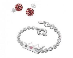 parure Louise Zoé bracelet boucle d'oreille Swarovsk