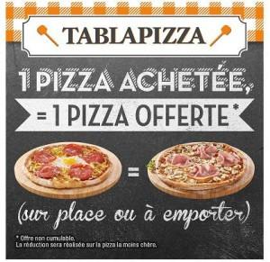pizza gratuite Tablapizza