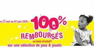 100% remboursé Toys'R US