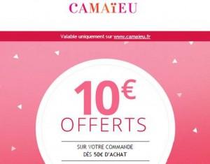 10 euros de remises sur Camaieu