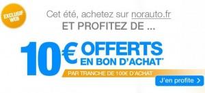 10 euros offerts par tranche de 100 euros chez Norauto