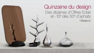 10 euros offerts sur les objets Design