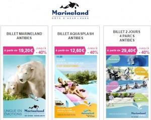 Billet d'entrée Marineland à prix réduit