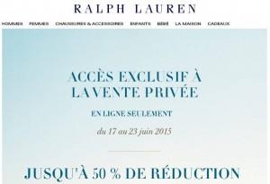 Pré-soldes Ralph Lauren d'été