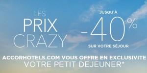 Prix Crazy Accor Hôtel