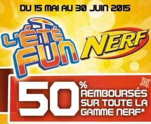 Tous les Nerf et Nerf Rebelle 50% remboursés