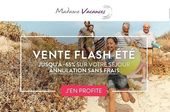 Vente Flash Vacances D'été Sur Madame Vacances