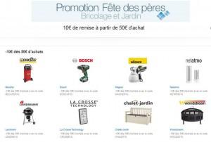 Voir l'offre Fête des Pères 10 euros offerts pour 50 euros d'achats