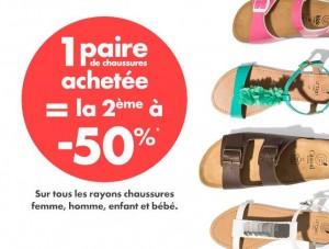 la seconde paire de chaussure achetés sur Gémo à moitié prix