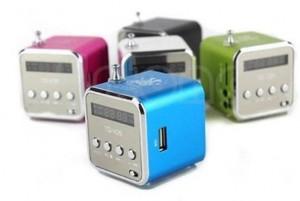 mini enceinte – radio FM – lecteur micro SD à 5,69 euros
