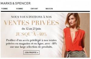 pre-soldes Marks et Spencer