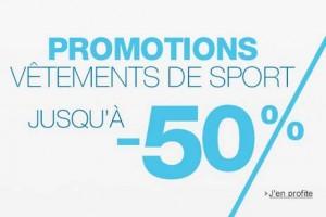 promotion vêtements de sport Amazon.