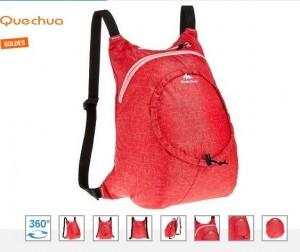 sac à dos d'appoint Quechua à moins de 2 euros