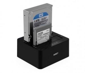 station d'accueil disques durs HDD ou SDD Aukay à seulement 31,99 euros