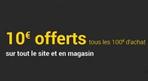 10 euros tous les 100 euros pour les adhérents Fnac