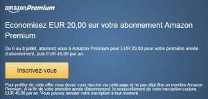 Amazon Premium pour seulement 29 euros pendant 1 an au lieu de 49 euros