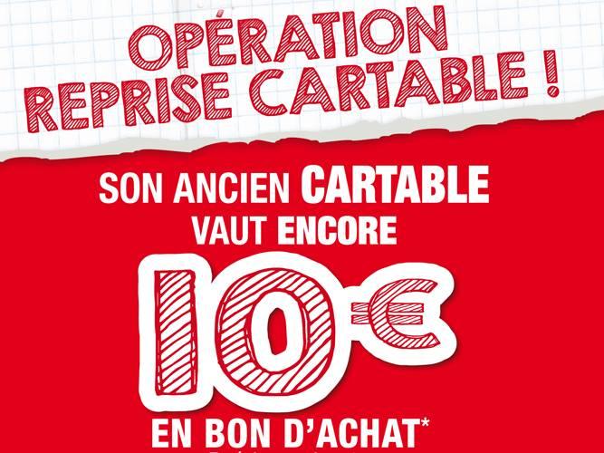 meilleur site web 2208c 47f6e Bon plan Rentrée scolaire : Ancien cartable repris 10 euros ...