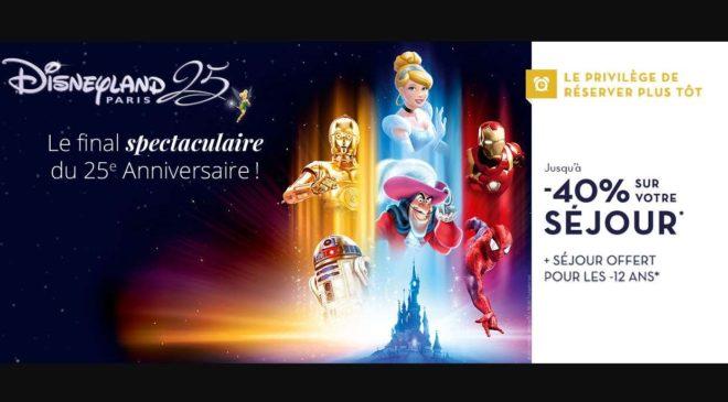 DisneyLand vente flash sur les séjours avec Carrefour Voyages
