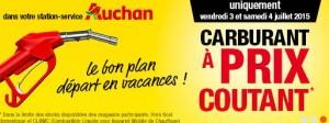 Essences a prix coutant chez Auchan