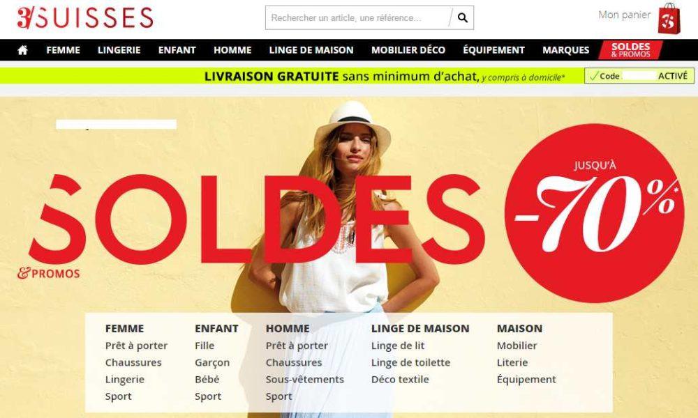 soldes 3 suisses livraison gratuite sans minimum. Black Bedroom Furniture Sets. Home Design Ideas